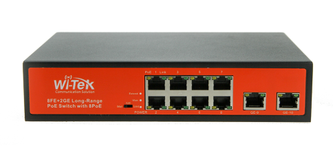 8FE+2GE Ports Switch with 8-Port af/at PoE 120W
