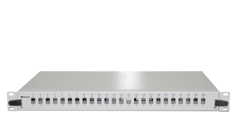 "1U 19"" B TYPE 24 PORT SCS FIBER OPTICAL BOX WHITE"