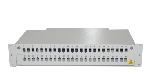 "2U 19"" B TYPE 48 PORT SCS FIBER OPTICAL BOX WHITE"