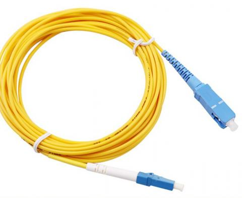ოპტიკურ პაჩკორდი - SC/UPC-LC/UPC Single-mode Simplex Patchcord 3mm 1m