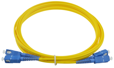 ოპტიკურ პაჩკორდი - SC/UPC-SC/UPC Single-mode Duplex Patchcord 3mm 1m