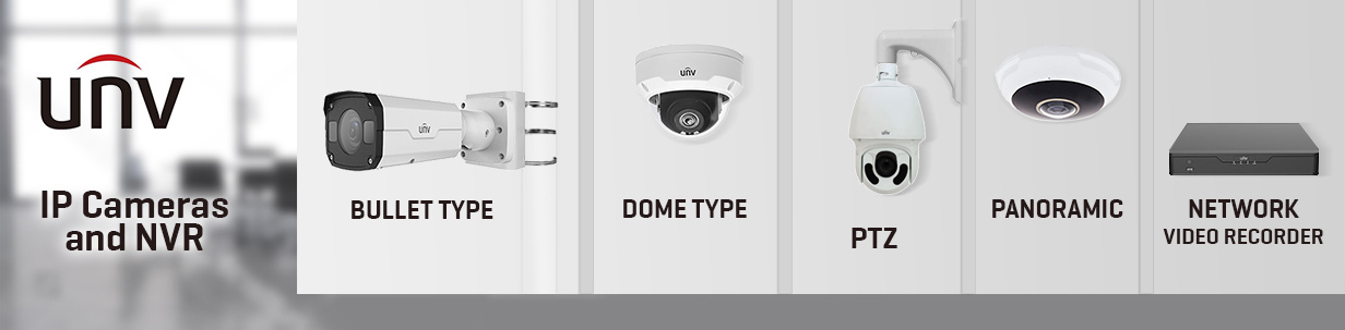 IP Cameras and Network video recorder (NVR)